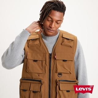 【LEVIS】男款 粗曠系工裝背心 / 立體多口袋機能設計 / 內鋪毛-人氣新品