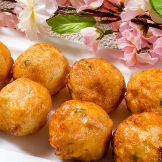 【鮮綠生活】丸類界的LV! 金鑽蝦枝花丸 共5包(300g 5入-凍)