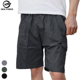【NEW FORCE】任選-寬鬆舒適多口袋休閒工作短褲(工作褲/ 男短褲/ 多口袋/ 男裝)