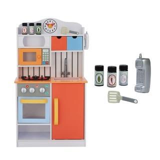 【Teamson】佛羅倫斯木製家家酒兒童廚房玩具2020版(2色)