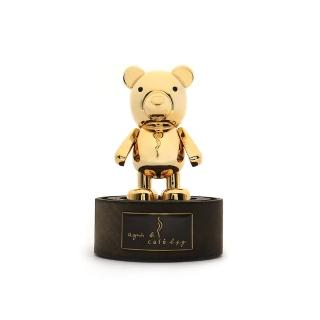 【agnes b.】b. barista 金色小熊吸鐵公仔