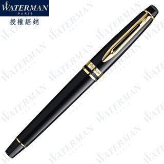 【WATERMAN】新版 權威系列 麗雅黑金夾 F尖 鋼筆 法國製造(EXPERT系列)
