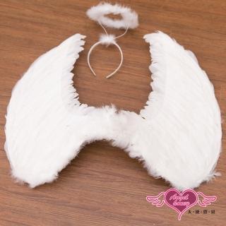 【Angel 天使霓裳】天使翅膀+光圈 大尺寸角色扮演道具配件(白F)