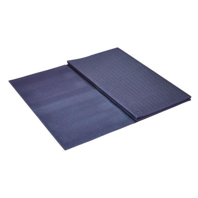 【LOTUS】買一送二 台灣製環保TPE加寬66cm雙折疊瑜珈墊(買就送皮拉提斯帶+防塵袋)