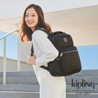 【KIPLING】極致低調黑大容量手提後背包-OSHO