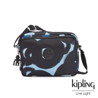 【KIPLING】童趣塗鴉印花雙層側背包-SILEN