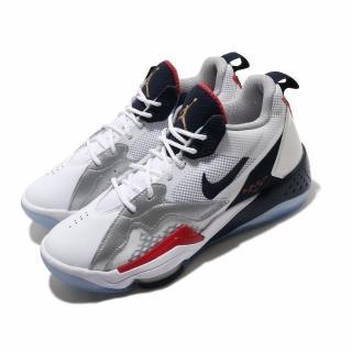 【NIKE 耐吉】籃球鞋 Jordan Zoom 92 運動 男鞋 氣墊 避震 喬丹 包覆 支撐 球鞋 白 藍(CK9183-101)