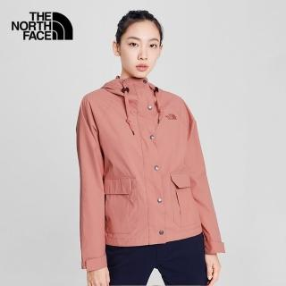 【The North Face】The North Face北面女款粉褐色防風防潑水造型連帽外套|4NEYR13