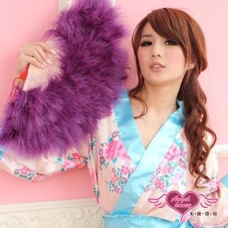 【AngelHoney天使霓裳】旗袍專用羽毛扇 角色扮演(深紫F)