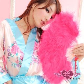 【AngelHoney天使霓裳】旗袍專用羽毛扇 角色扮演(桃紅F)