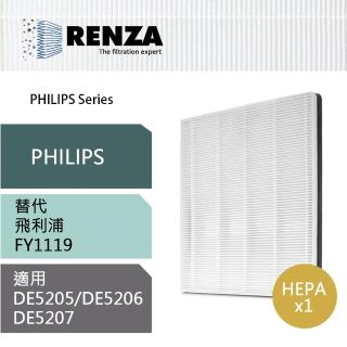 【RENZA】HEPA濾網 適用飛利浦 PHILIPS 清靜除濕機 DE5205 DE5206 DE5207(可替代FY1119)