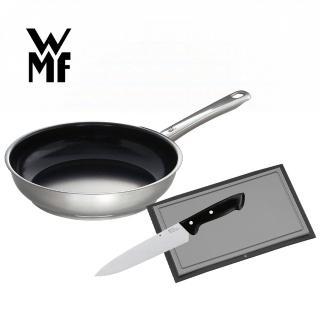 【德國WMF】Devil陶瓷平底鍋/平煎鍋28cm+砧板廚刀組/