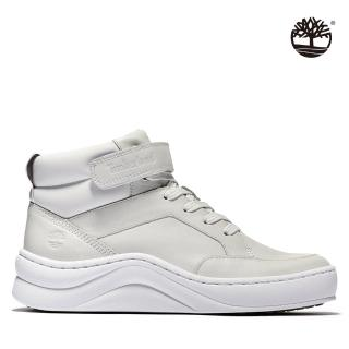 【Timberland】女款米白色全粒面中筒運動靴(A1ZXCL77)/