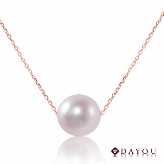 【DAYOU】經典優雅單顆天然AKOYA海水珍珠 白珠帶粉光項鍊 大祐(17吋長 AKOYA 7.5-8mm 白珠帶粉光)