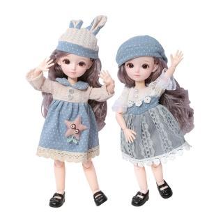 【JoyNa】芭比娃娃換裝禮盒 換裝娃娃 公主(31公分多關節可動)