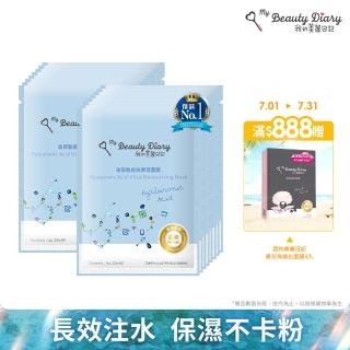 【我的美麗日記】玻尿酸極效保濕面膜80片組