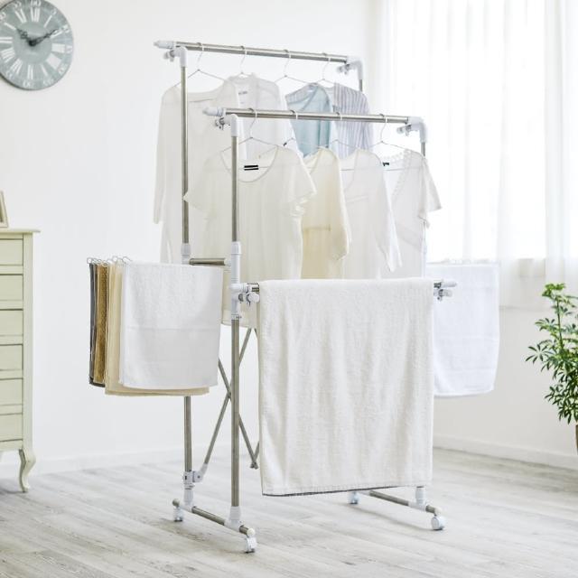 【IRIS】伸縮簡易組裝曬衣架