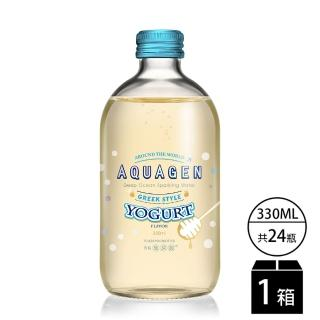 【AQUAGEN】海洋深層氣泡水-希臘乳酸派對(330mlx24瓶/箱)