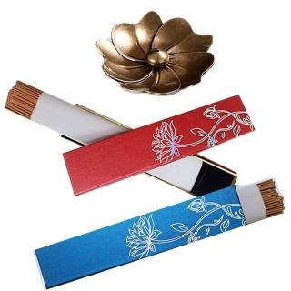 【古緣居】黃銅復古櫻花托盤水滴香插(惠安沉香+老山沉香套組)