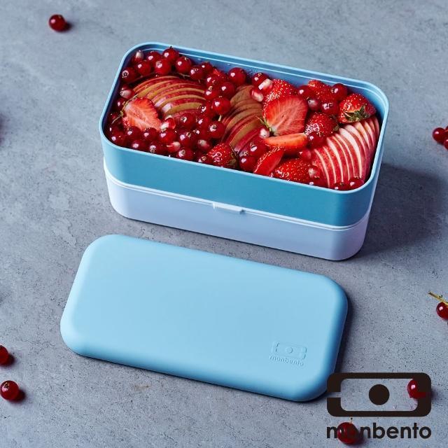 【MONBENTO】雙層餐盒-藍色水晶(MB-11010018)/