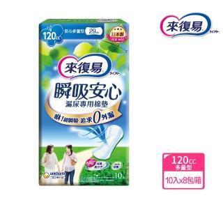 【來復易】瞬吸安心漏尿專用棉墊多量型 10片/8包