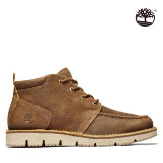 【Timberland】男款小麥棕絨面革休閒緩衝中筒靴(A2NT8D02)