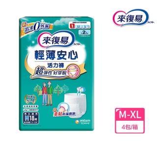 【來復易】輕薄安心活力褲M-XL 4包/箱(成人紙尿褲)