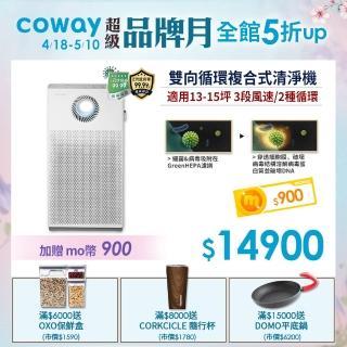 贈mo幣820【實驗認證抑制冠狀病毒99.99%】Coway15坪