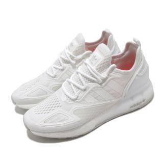 【adidas 愛迪達】休閒鞋 ZX 2K Boost 襪套式 男鞋 愛迪達 三葉草 緩震 流行 穿搭 白(FX8834)