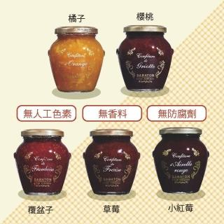 【沙巴東】天然果醬-350g 口味任選一入(覆盆子、橘子、小紅莓、櫻桃、草莓)