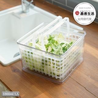 【韓國昌信生活】SKYLOCK密扣提籃式2號保鮮盒-大(5900ml)