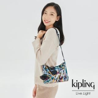 【KIPLING】幾何花卉圖騰簡約大方肩背包-GAEL