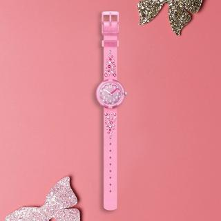 【Flik Flak】兒童錶 MILLEFEUX 愛心粉晶 菲力菲菲錶(31.85mm)