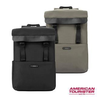 【AT美國旅行者】Rubio上開拉鍊隔層筆電後背包14(多色可選)/