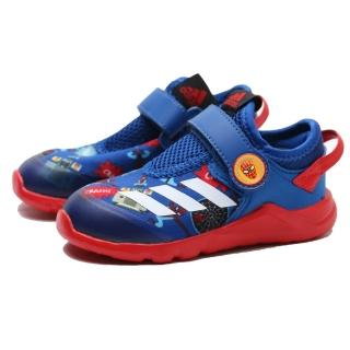 【adidas 愛迪達】休閒鞋 MARVEL SPIDER-MAN ACTIVEFLEX AC 紅藍 蜘蛛人 魔鬼氈 小童(FV4265)