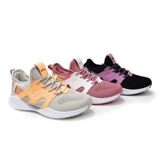 【OHHO】全新抗扭避震飛織休閒鞋(粉)