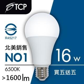 【TCP 強凌】LED 節能燈泡清倉大特賣-16W(買5送5)