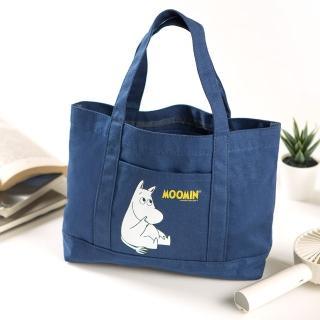【嚕嚕米】單寧藍帆布提袋/