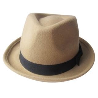 【米蘭精品】爵士帽禮帽(捲邊毛呢保暖英倫情人節生日禮物女帽子67e3)