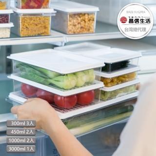 【韓國昌信生活】SENSE冰箱萬用保鮮盒8件組(momo限定A)