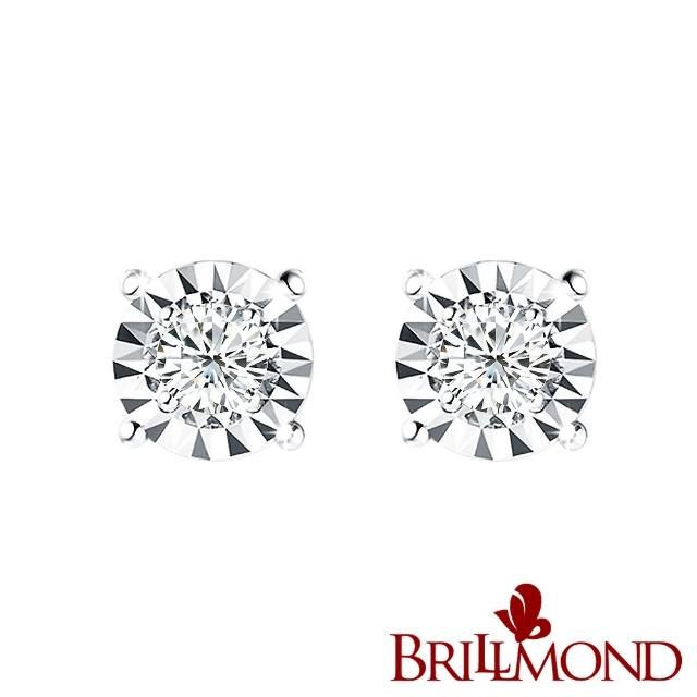 【BRILLMOND JEWELRY】璀璨光芒GIA 60分鑽石耳環(30分X2 18K金台 D/SI2)
