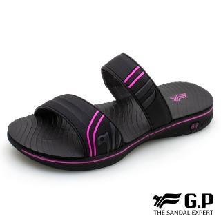 【G.P】女款極輕量舒適雙帶拖鞋G0586W-黑桃色(SIZE:36-39 共二色)