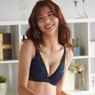 【Ladies 蕾黛絲】半糖愛情V真水 B-C罩杯內衣(半熟藍黑)