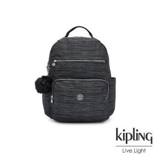 【KIPLING】沉穩十字條紋大容量媽媽包-SO