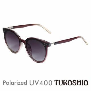 【Turoshio】偏光太陽鏡 韓版時尚圓框 朱雀紅 19001 C3(贈鏡盒、拭鏡袋、多功能螺絲起子、偏光測試片)