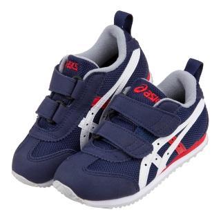 【布布童鞋】asics亞瑟士MEXICO_MINI深藍色紅白配兒童機能運動鞋(J0R007B)