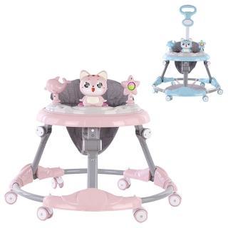 【JoyNa】嬰兒音樂學步車 螃蟹車(手推車功能)