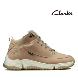 【Clarks】城市漫遊 C. Shell 防潑水輕戶外三瓣底高筒休閒女鞋(沙色)