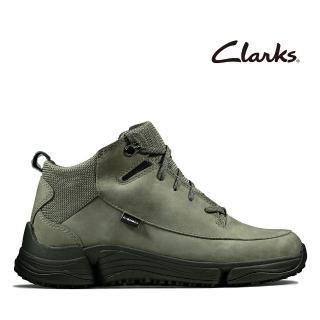 【Clarks】城市漫遊 C. Shell 防潑水輕戶外三瓣底高筒休閒女鞋(灰綠色)