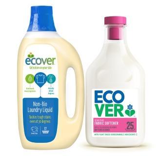 【ECOVER宜珂】親膚低敏濃縮洗衣柔軟組